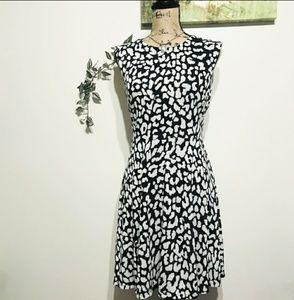 LOFT Dresses - Ann Taylor LOFT Black & White Midi Dress